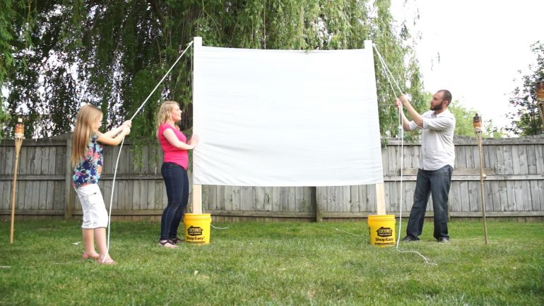 Outdoor Movie Projector Screen Diy Valu Home Centers For